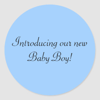 Introducing our new Baby Boy envelope seal Classic Round Sticker