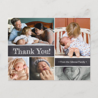 Introducing Second baby photos Thank You Announcement Postcard