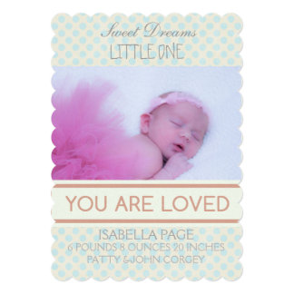 INTRODUCING YOU ARE LOVED BIRTH ANNOUNCEMENT