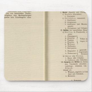 Introduction 1213 Tafel der Karte XII Mouse Pad