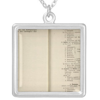 Introduction 1213 Tafel der Karte XII Silver Plated Necklace