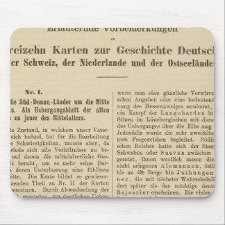Introduction 1415 Tafel der Karte XII Mouse Pad