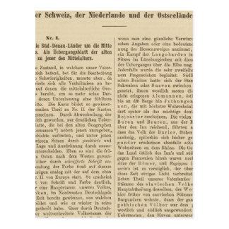 Introduction 1415 Tafel der Karte XII Postcard