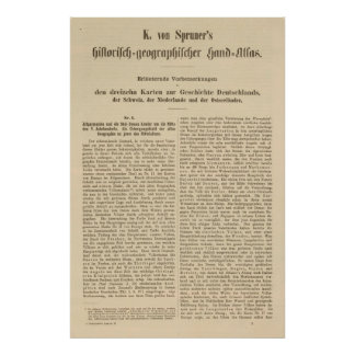 Introduction 1415 Tafel der Karte XII Poster