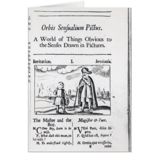 Introduction to 'Orbis Sensualium Pictus' Card