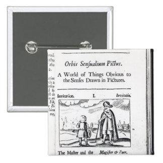 Introduction to 'Orbis Sensualium Pictus' Pinback Button