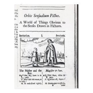 Introduction to 'Orbis Sensualium Pictus' Postcard