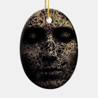 """Introspection"" Ceramic Ornament"