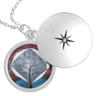 """""""Introspection"""" Silver Plated Necklace"""