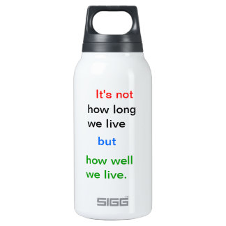 Introspection Wisdom : How well we lived ?? Insulated Water Bottle