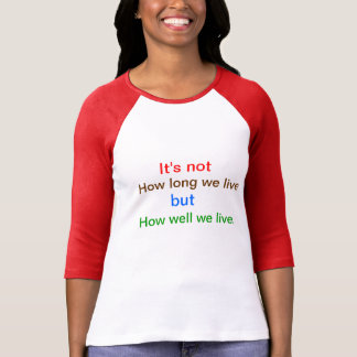 Introspection Wisdom : How well we lived ?? T-Shirt