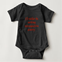 Introspective Poetry Baby Creeper | Goth | Writing