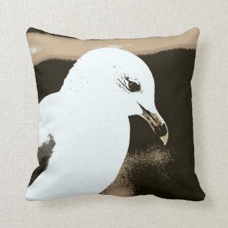 Introspective Seagull Pillow