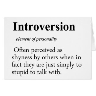 Introversion Definition Card