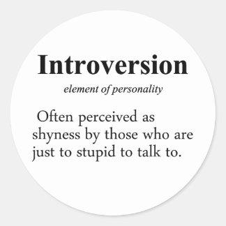 Introversion Definition Classic Round Sticker