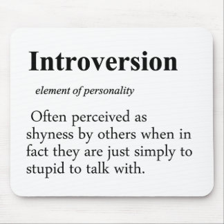 Introversion Definition Mouse Pad