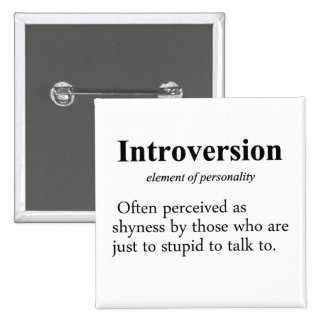 Introversion Definition Pinback Button