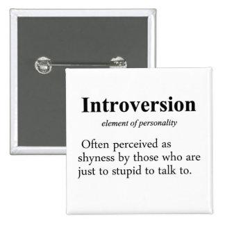 Introversion Definition Pinback Button