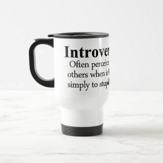 Introversion Definition Travel Mug