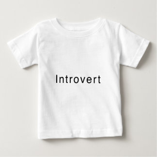 """Introvert"" Design Baby T-Shirt"