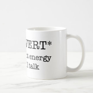 INTROVERT insufficient energy mug