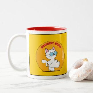 Introvert Shield Two-Tone Coffee Mug