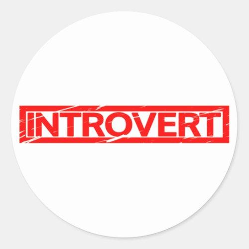 Introvert Stamp Classic Round Sticker