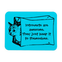 Introverts are Awesome Cat in a Bag Sticker Magnet