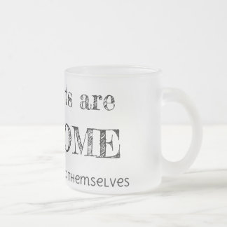 Introverts are Awesome Frosted Glass Coffee Mug