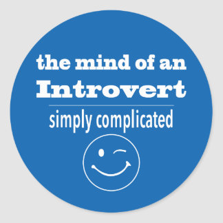 Introverts Are Simply Complicated Classic Round Sticker