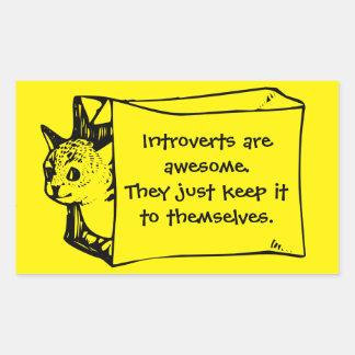 Introverts es gato impresionante en un pegatina