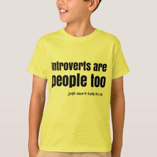 Introverts es la gente (a) remeras