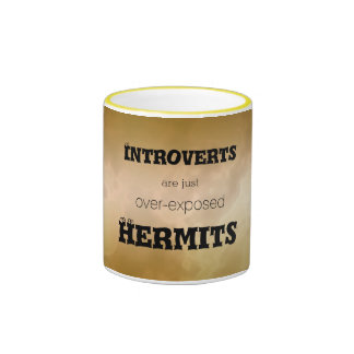 Introverts Hermits Gold Marble Ringer Mug
