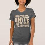 INTROVERTS NOS UNEN están aquí nosotros son Camiseta