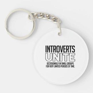 Introverts unen: De vez en cuando Llavero Redondo Acrílico A Doble Cara