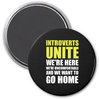 Introverts unen imán redondo 7 cm