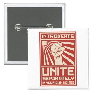 Introverts unen por separado en sus propios pin cuadrado