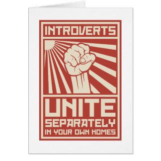 Introverts unen por separado en sus propios tarjeta de felicitación