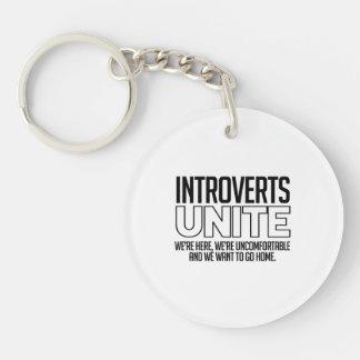 Introverts unen: Queremos ir a casa Llavero Redondo Acrílico A Doble Cara