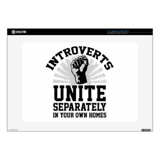 "Introverts Unite 15"" Laptop Skins"