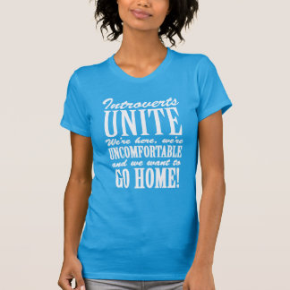 Introverts Unite At Home Anonymously T Shirt
