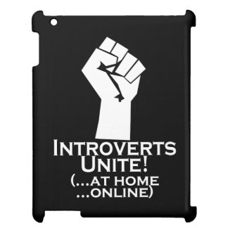 Introverts Unite, At Home, Online, Funny iPad Cover