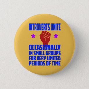 c006ae4e0 Introvert Buttons & Pins - Decorative Button Pins | Zazzle