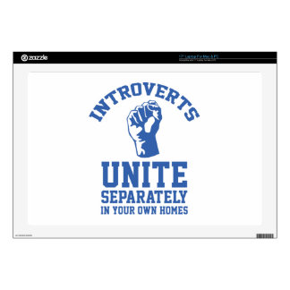 Introverts Unite Decals For Laptops