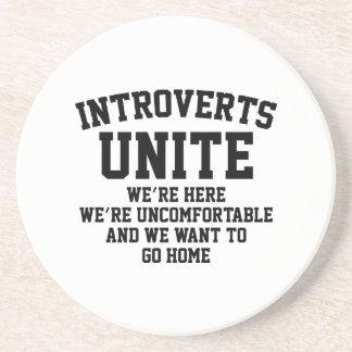 Introverts Unite Drink Coaster