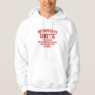 Introverts Unite Hooded Pullover