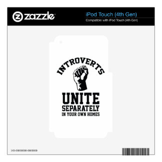 Introverts Unite iPod Touch 4G Decal