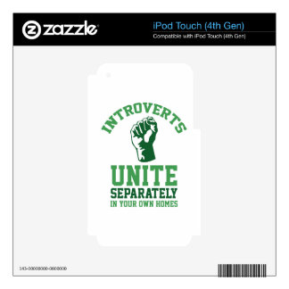 Introverts Unite iPod Touch 4G Skin