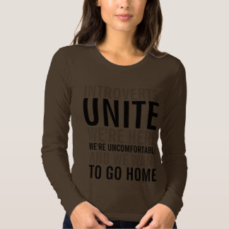 Introverts Unite Ladies Sweater T-shirts