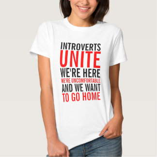 Introverts Unite Ladies Top T Shirt